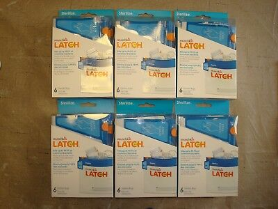 New Munchkin Latch Sterilizer Bags 6-Pack Boxes 36 Total Microwave 180 Uses Warm