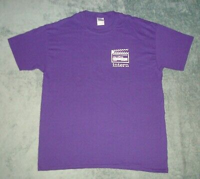 The Office 2013 Wrap Party Intern T Shirt Mens Large Purple Tv Show Dunder Tee