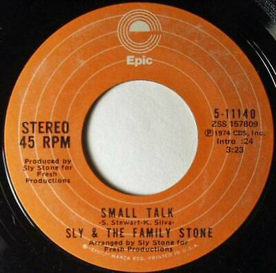 Sly and The Family Stone,Small Talk - Time For Livin', Epic 5-11140