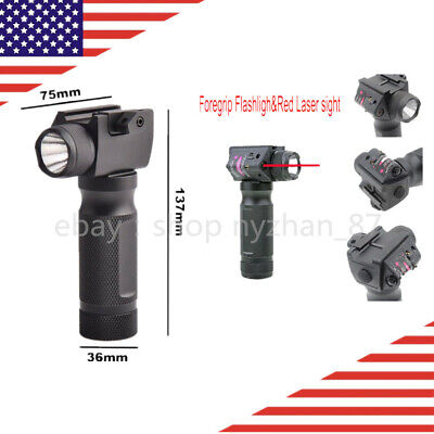 Sporting Goods US Combo Vertical Foregrip Red Laser Sight  /LED White Light Lumen Flashlight Hunting Lights & Lasers