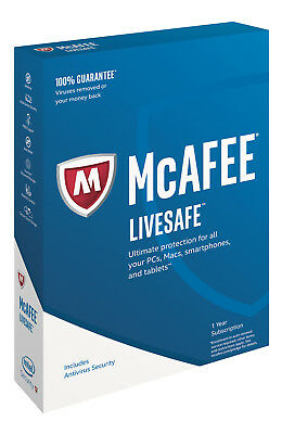 McAfee Livesafe Ultimate Protection for all your devices Sealed and Brand New +