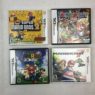 SUPER MARIO BROTHERS Nintendo DS Game Case Lot of Five -No games