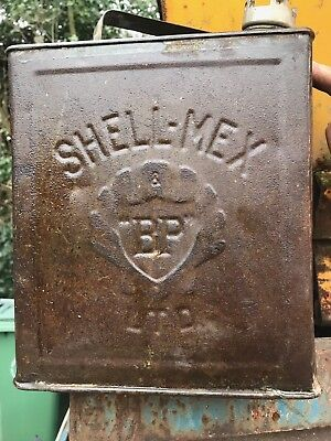 Shell Oil Can.