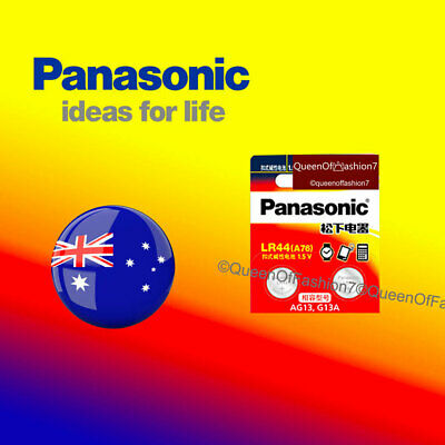 2 x LR44 Panasonic 0%Hg 1.5V Genuine Battery A76/AG13 Alkaline Batteries