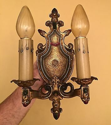 Vintage Lighting four matching 1930 Spanish Revival sconces