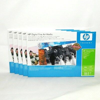 Hahnemuhle Water Color Paper 13X19 5 Packs 375 Total Sheets HP Q8729A Lot Of 3