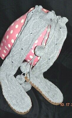e30cca1cd9 Victorias Secret Pink Bling Cable Knit Mukluk Sweater Boots BLING BLING EX M