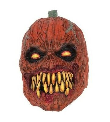 HORROR PUMPKIN COSTUME with Mask /& Weapon ALL SIZES Halloween-Scary-Evil NEW