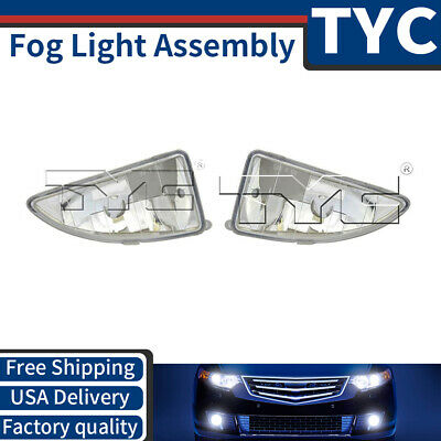 TYC 2X Left + Right Fog Light Lamp Assembly Replacement For 2000-2004 Ford Focus
