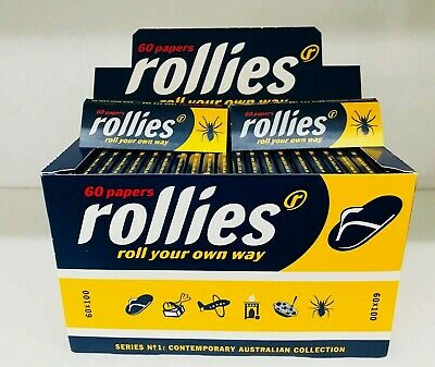 100x 60 ROLLIES Tobacco Cigarette Rolling Roller Filter Filters Paper Papers