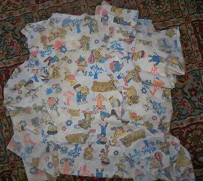 1970s Vintage Magic Roundabout Fabric Off Cuts Patchwork Cushions
