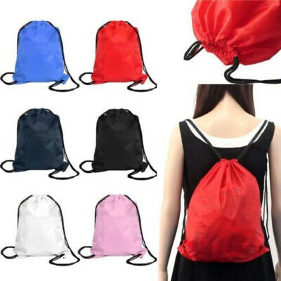 Camping Backpack Drawstring Storage Bag with Zipper Pocket for Phone Bottle