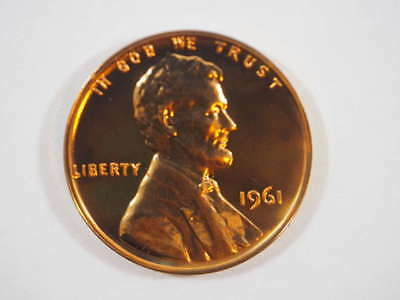 1961 P Lincoln Memorial Clad Penny Proof Cent US Coin Proof (PF) - SKU 83USPCL