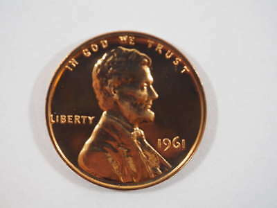 1961 P Lincoln Memorial Clad Penny Proof Cent US Coin Proof (PF) - SKU 84USPCL