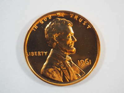 1961 P Lincoln Memorial Clad Penny Proof Cent US Coin Proof (PF) - SKU 85USPCL