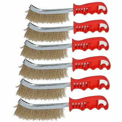 Handheld Wire Brush Rust Removal Remover Cleaning Hand Spid Brushes 6 Pack