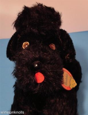 1963 Steiff 5314,06 Black Snobby Poodle Fully Tagged 14Cm 6 Inches