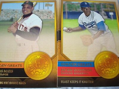 2012 Topps Golden Greats Eleven Cards Lot Robinson Mantle Ryan Mays Cobb Seaver