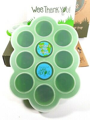 Weesprout Natures Little Cubes Silicon Baby Food Freezer Tray 10-1.5 oz portions