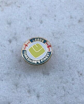 Leeds United Supporter Enamel Badge Very Rare - Yorkshire's Finest