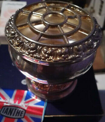 """VINTAGE """"IANTHE""""  SILVER PLATED ROSE BOWL/POSY BOWL, 8cm high, boxed,"""