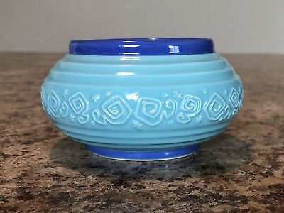 Disney Parks Alice in Wonderland Mad Tea Party Blue Ceramic Mini Bowl
