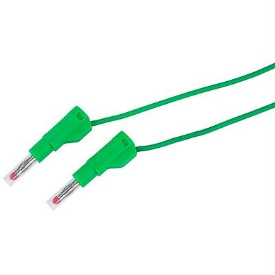 TruConnect 4mm Stackable Test Lead 110cm with Retractable Shrouds Green