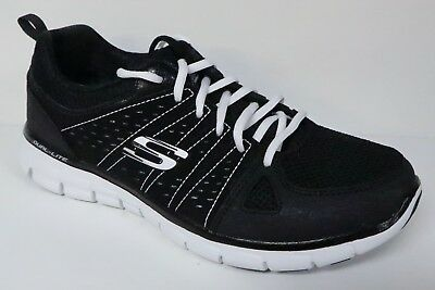 055611dc3944 Skechers Synergy Look Book Women s Size 7.5 Black   White Mesh Sneakers  Shoes