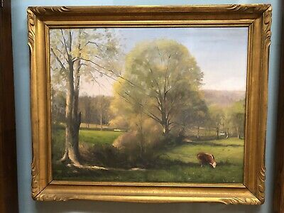 Frank Giovinazzo (1915-2004) Large Original Oil Painting, Salmagundi Club Artist