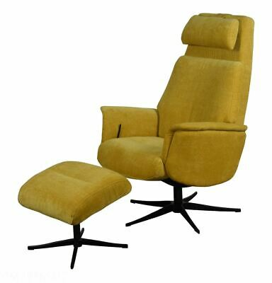Strange The Albury Swivel Recliner Chair In Yellow Fabric With Creativecarmelina Interior Chair Design Creativecarmelinacom