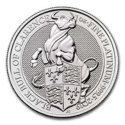 2019 Great Britain 1 oz Platinum Queen's Beasts The Bull - SKU#186782