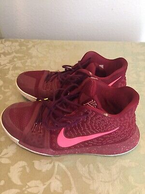 new products 4ca8e 50571 BOYS KYRIE 3 NIKE Basketball Sneakers Shoes Maroon 859466 ...