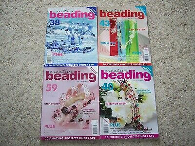 Lot of 4 CREATIVE BEADING MAGAZINES Back Issues AUSTRALIA Be Inspired