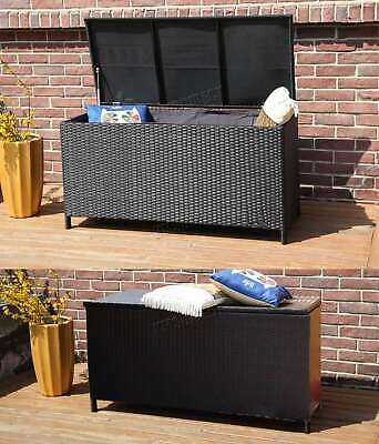 WestWood Garden Furniture Rattan Storage Box Woven Chest Patio Outdoor PE RSB01