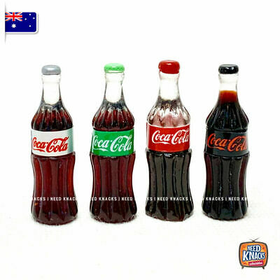 Mini Coke Bottles Set of 4 - add to your Coles Little Shop Mini Collectables