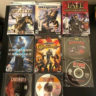LOT of 9 Big Box PC Games Command & Conquer 4 Drakensang Spaceship Warlock Fate