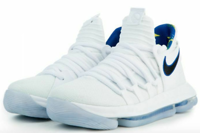 851d1e97ea8f Nike Zoom KD 10 NBA Golden State Warriors Size 5Y White Royal Blue Youth   125