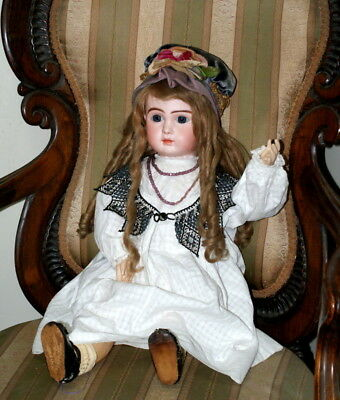 """23"""" Antique A SERIES BEBE STEINER French Bisque Doll CLOSED MOUTH RARE C.1889"""
