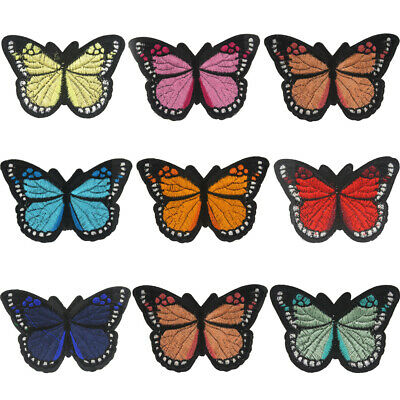 Butterfly Embroidery Sew Iron On Patch Badge Fabric Bag Clothes Appliqué Craft