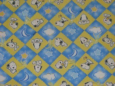 Peanuts Gang Snoopy Starlite Snoopy Diamonds Large Handmade Baby Crib Quilt