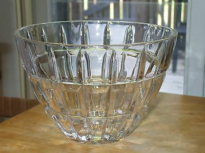 Heavy Crystal clear Pressed Glass Bowl Starburst Pattern on Bottom #pk64