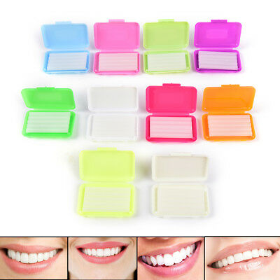 10boxes 10 different Scent Orthodontic Wax For Braces gum irritation Oral Care