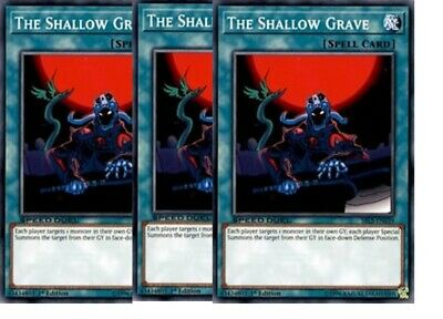 3xThe Shallow GraveSBLS-EN039Common- NM  Arena of Lost Souls