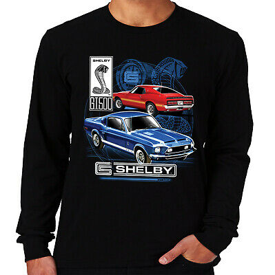 Velocitee Mens Long Sleeve T-Shirt Classic Shelby GT500 Mustang Design A17927