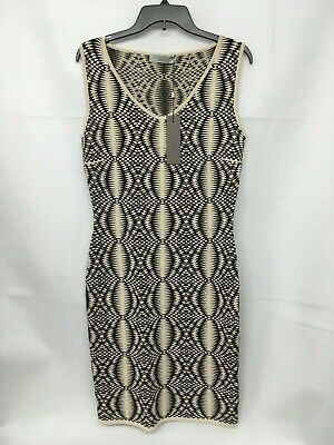 RRP £359 Various Sizes BNWT. D.Exterior Ladies Black Cream Print Dress