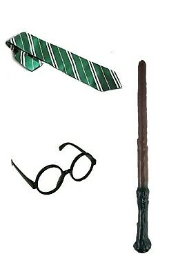 Cravate lunettes baguette deguisement Harry Potter enfant serpentard slytherin