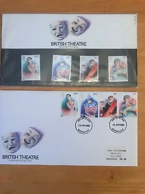 1982 British Theatre Royal Mail Mint Stamps And First Day Cover