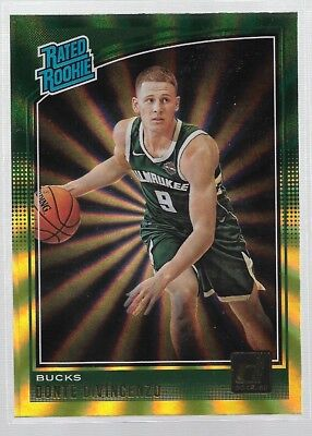 d4b5841a00b Donte DiVincenzo 2018-19 Donruss Green Yellow Prism   Rated Rookie Bucks RC