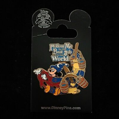 Sorcerer Mickey Mouse Fantasia Follow Me to the Best Job in the World Disney Pin