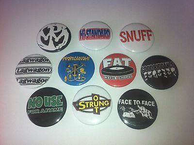 10 90s punk badges Fat Wreck Pennywise Strung Out NUFAN Lagwagon Propagandhi